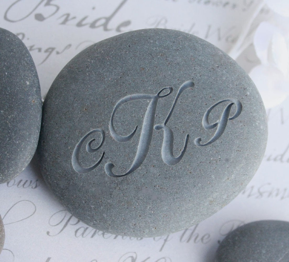 The Oathing Stone - for wedding or commitment ceremony - double sided engraving
