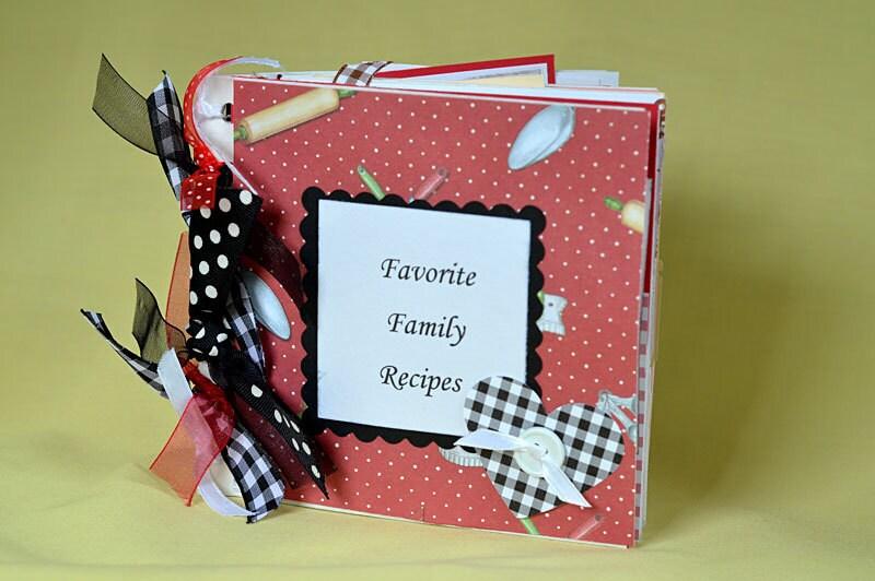 Country Favorite Family Recipes Mini Scrapbook