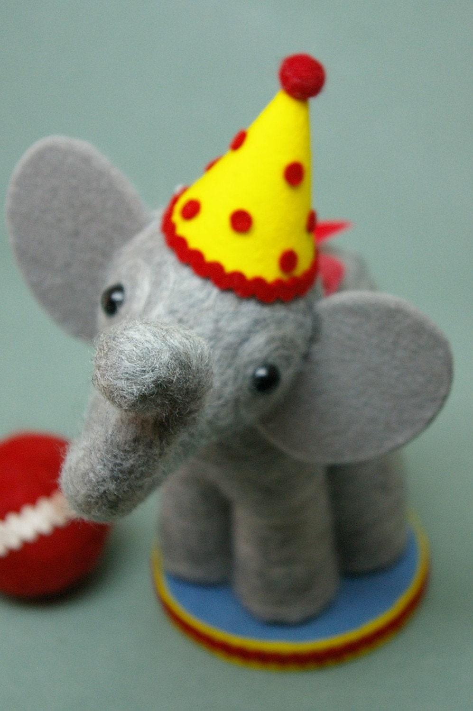 Circus elephant cake topper - photo#5