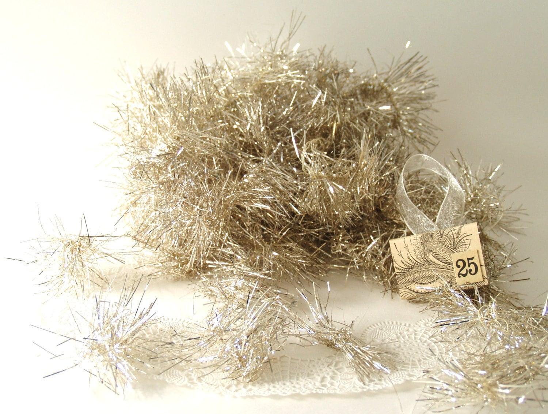 So frail vintage tinsel garland by cashmerewhite on etsy