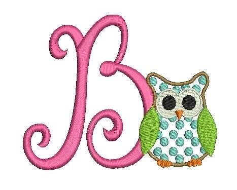 Three Letter Monogram Embroidery Designs