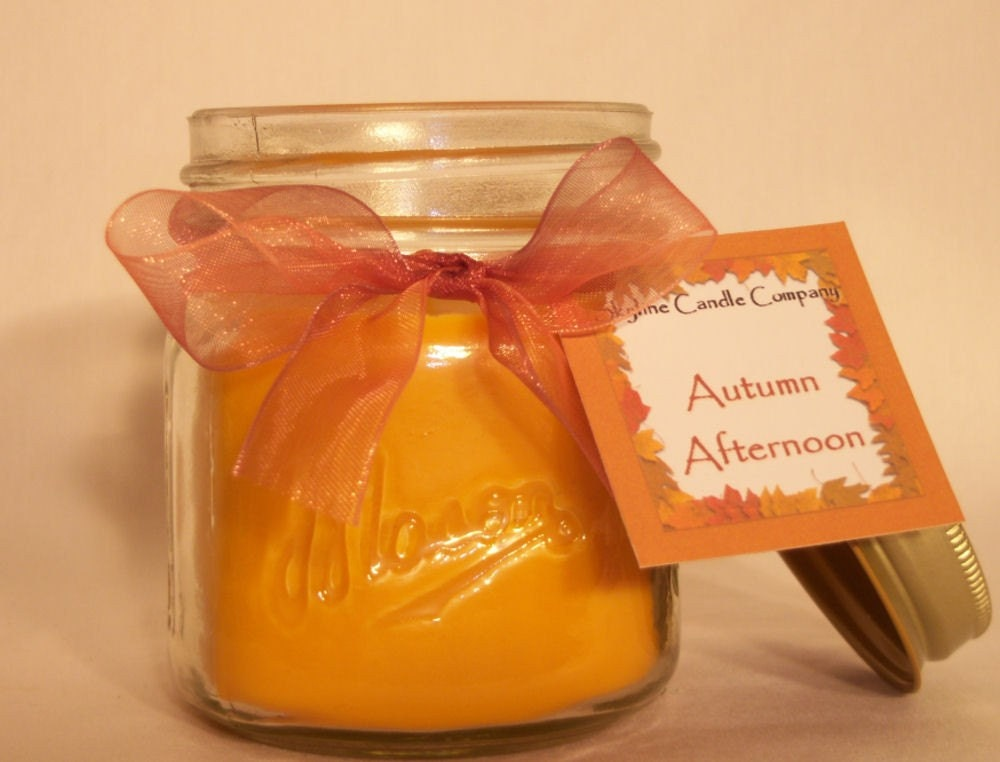 Autumn Afternoon 8oz All Natural Hand-Poured Soy Candle