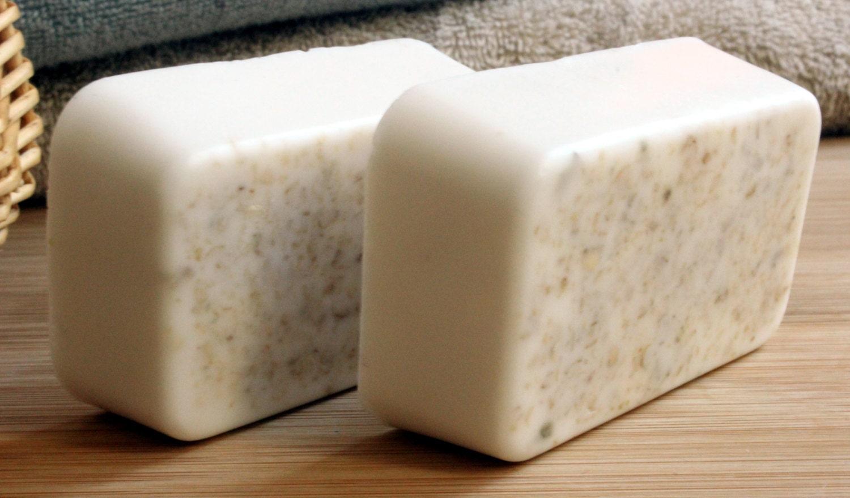 Oatmeal Honey In Goats Milk Soap- Sensitive Skin, Mild Exfoliating,Fragrance Free, Vitamin E, Hand madesoap, Select- Four Options, Skin Care - RTStyles