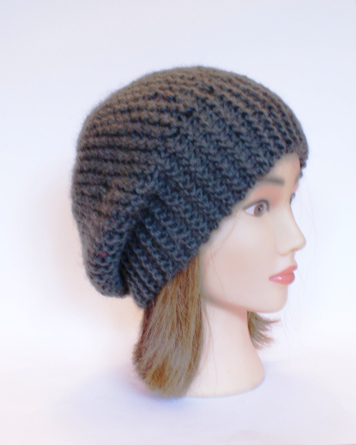 Irish Beret Knitting Pattern : Beret style slouch hat army green slouchy beanies by ...