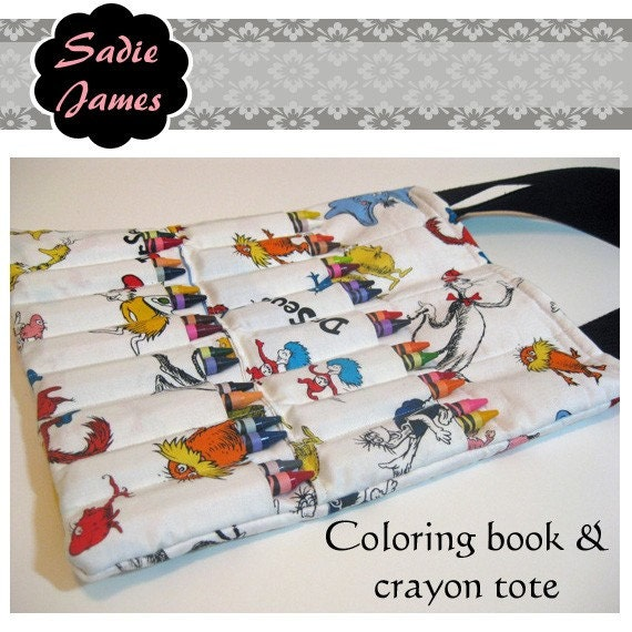Items Similar To Coloring Book Crayon Tote Pdf Pattern Ebook Instant Download On Etsy