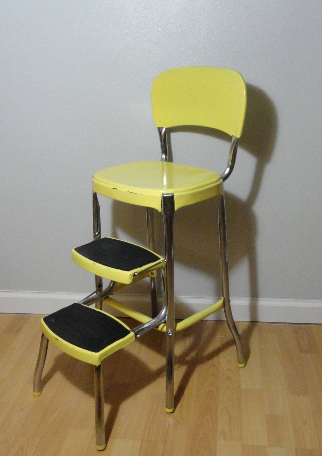 wooden chair converts to step stool wooden