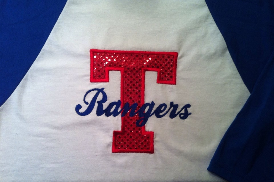 Texas rangers baseball tee shirt by mycamillescreations on for Texas baseball t shirt