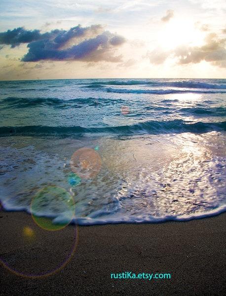 Spring Beach Sunrise Photography 8x12 - RustikaPhotography