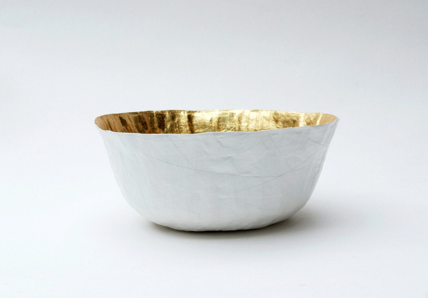 White Gold Paper Bowl