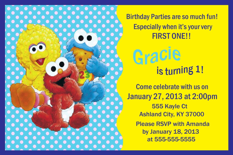 Items similar to Baby Sesame Street 1st Birthday ...
