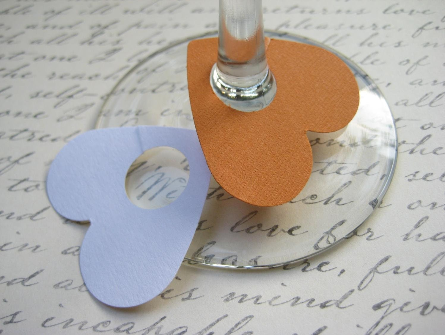 items similar to paper wine glass tags charms labels on etsy