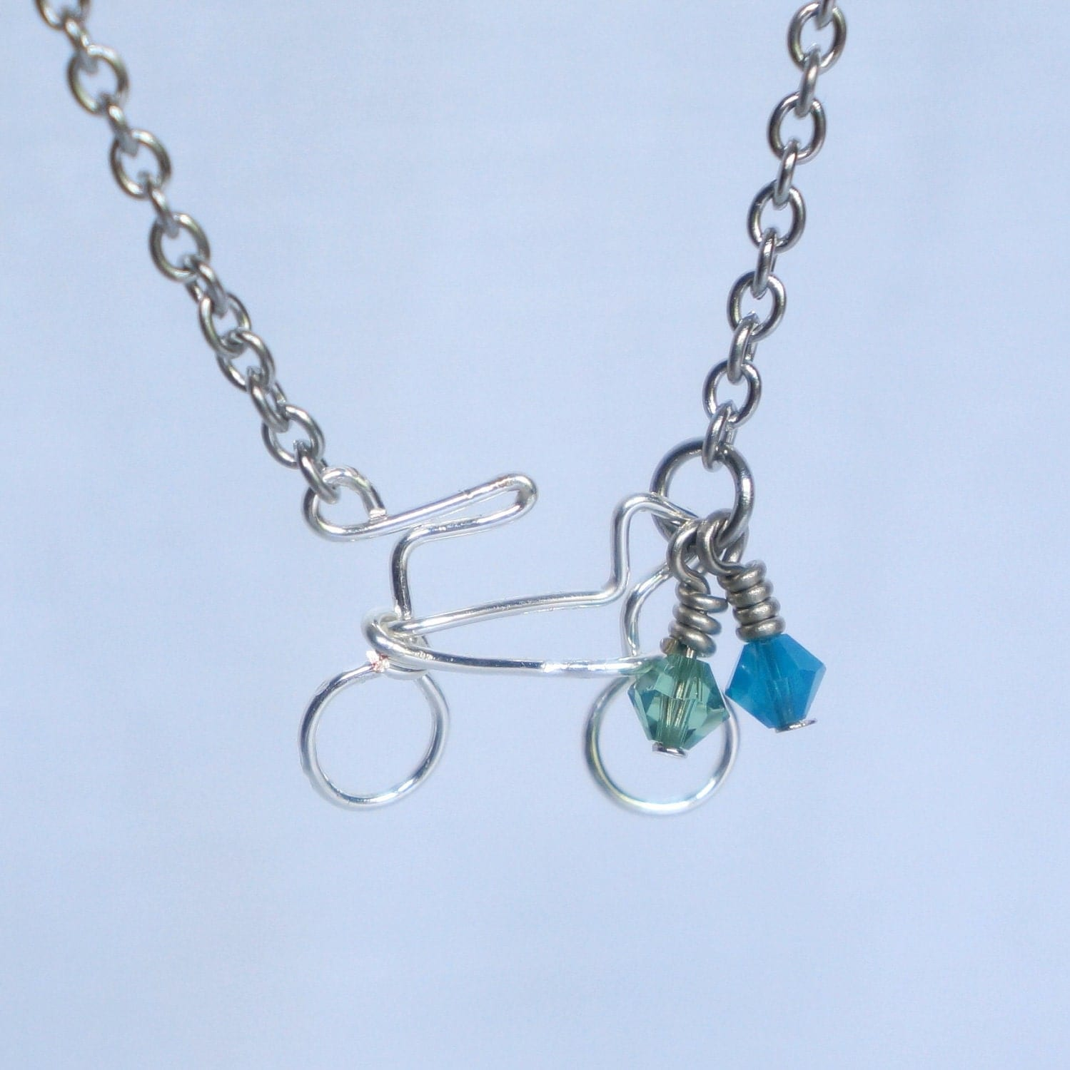 Bicycle Necklace for Charity