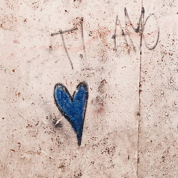 Graffiti photograph -  Rome photography print - Italy Trastevere wanderlust architecture street art ti amo sand blue rustic travel photo - photographybykarina