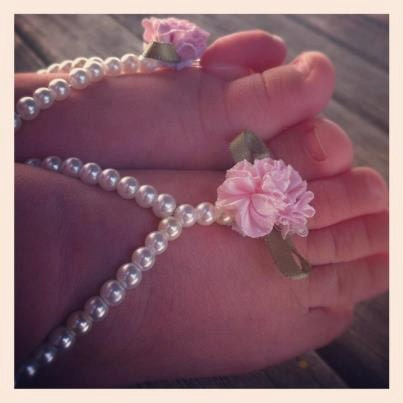 how to make beaded barefoot sandals for babies