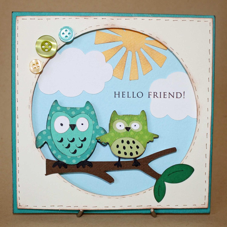 Handmade Owl Greeting Friendship card by treasuresfromthe80s  Craftjuice Han...