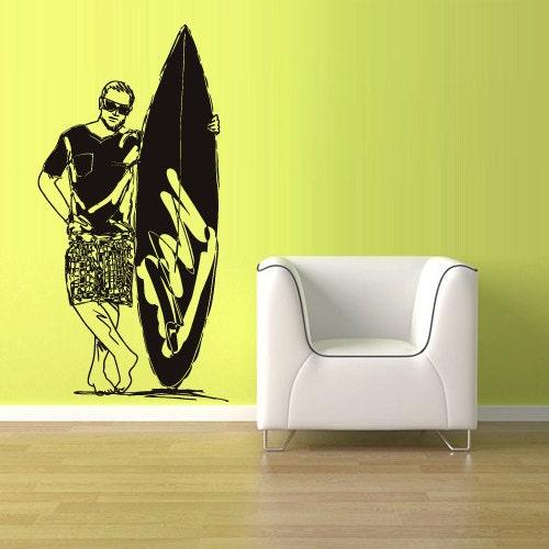 wall decal vinyl sticker decals surfing surf by surf decals