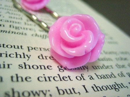 Sweet Rose Bobby Pins by Worksinprogress