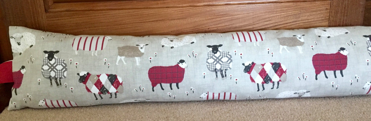 Draught excluder sheep draught excluder fabric draught stopper