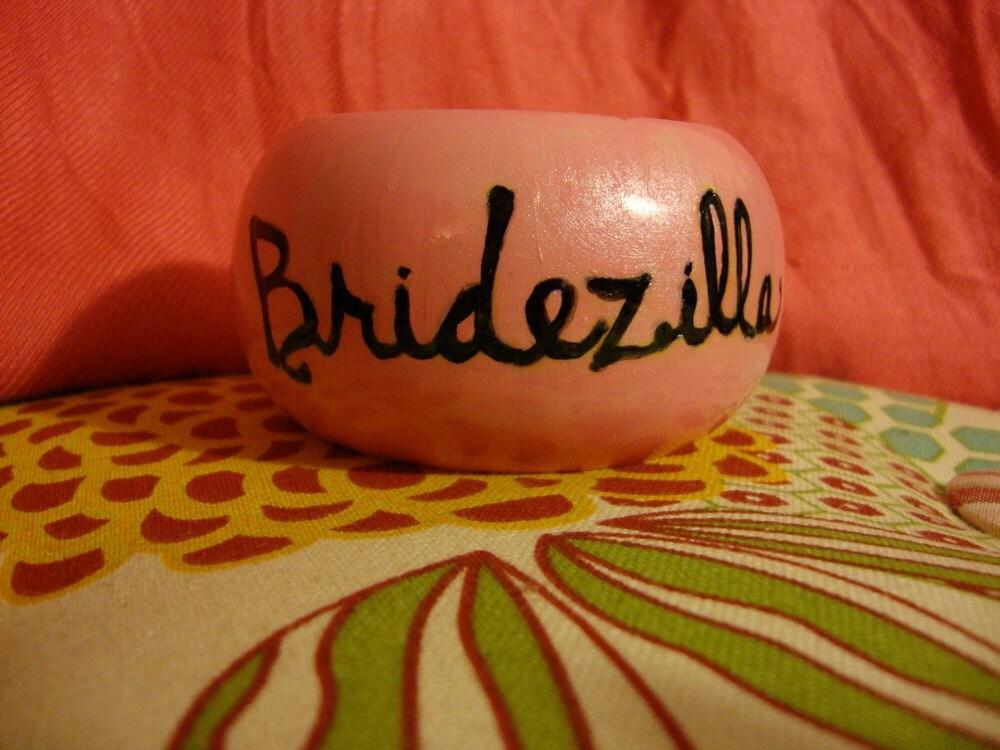 Bridezilla Wood-burned Bangle Bracelet