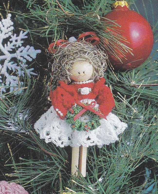 Clothespin Angels Crochet Patterns Christmas by PaperButtercup