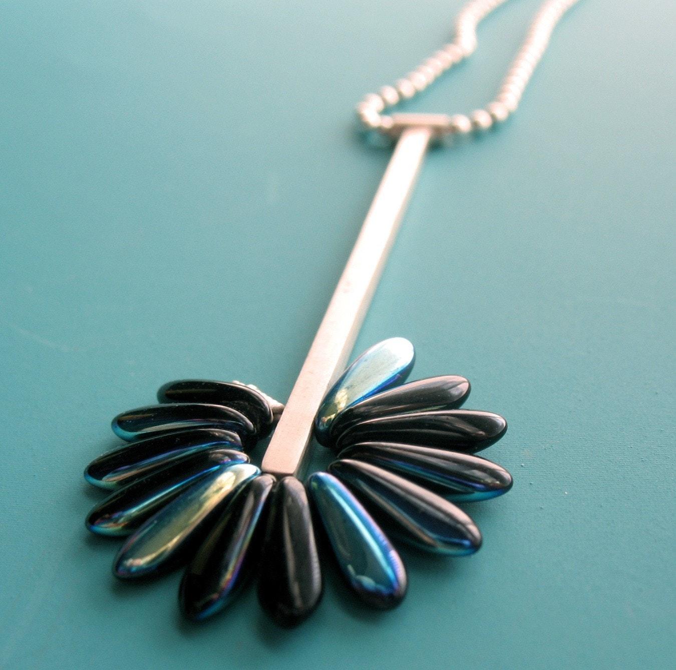 Black Petal Pendant