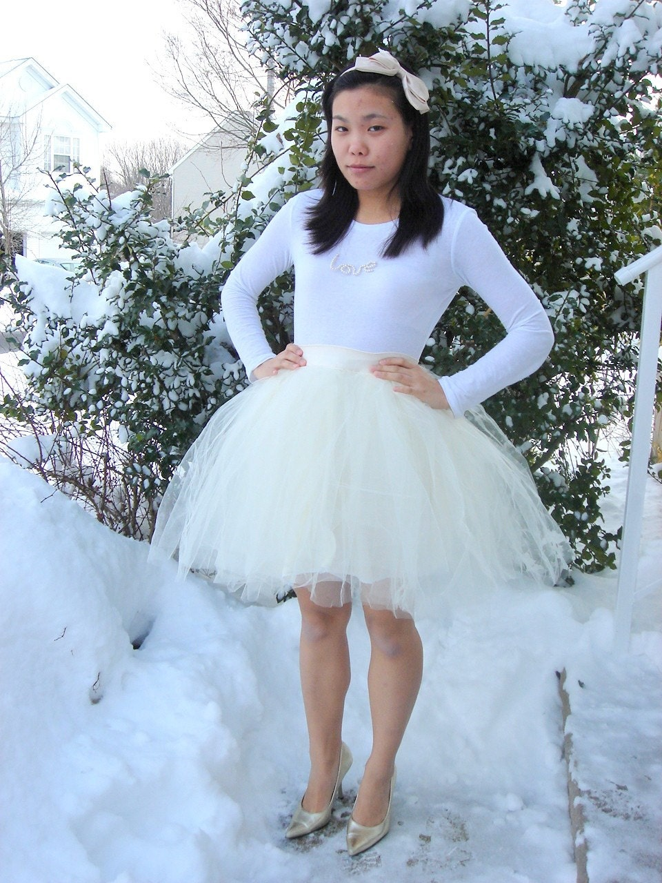 Swan Lake Pure Innocent White Swan Tulle Skirt