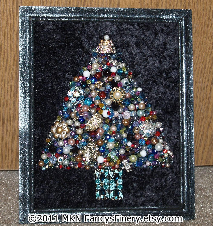 Sparkle and Shine... One of a Kind Jeweled Christmas Tree