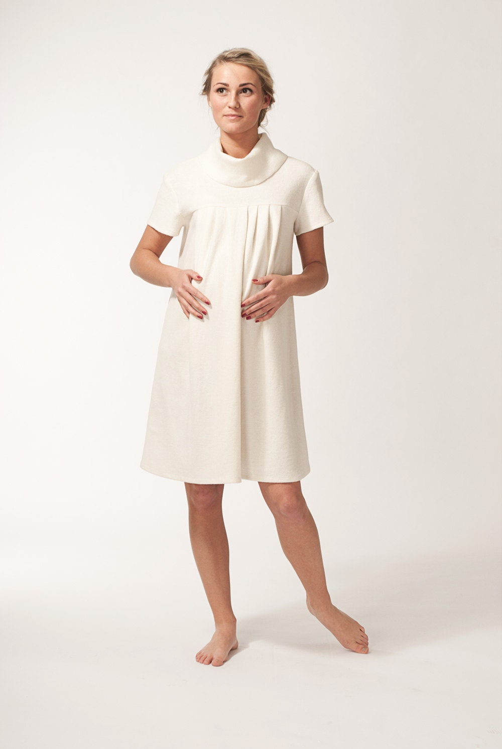 Dream Cream Maternity tunic - alicebmaternity