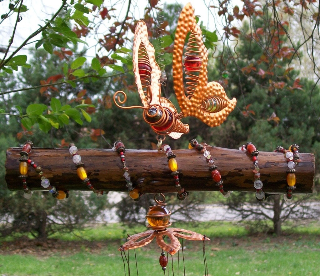 Ooak Butterfly Scented Windchime