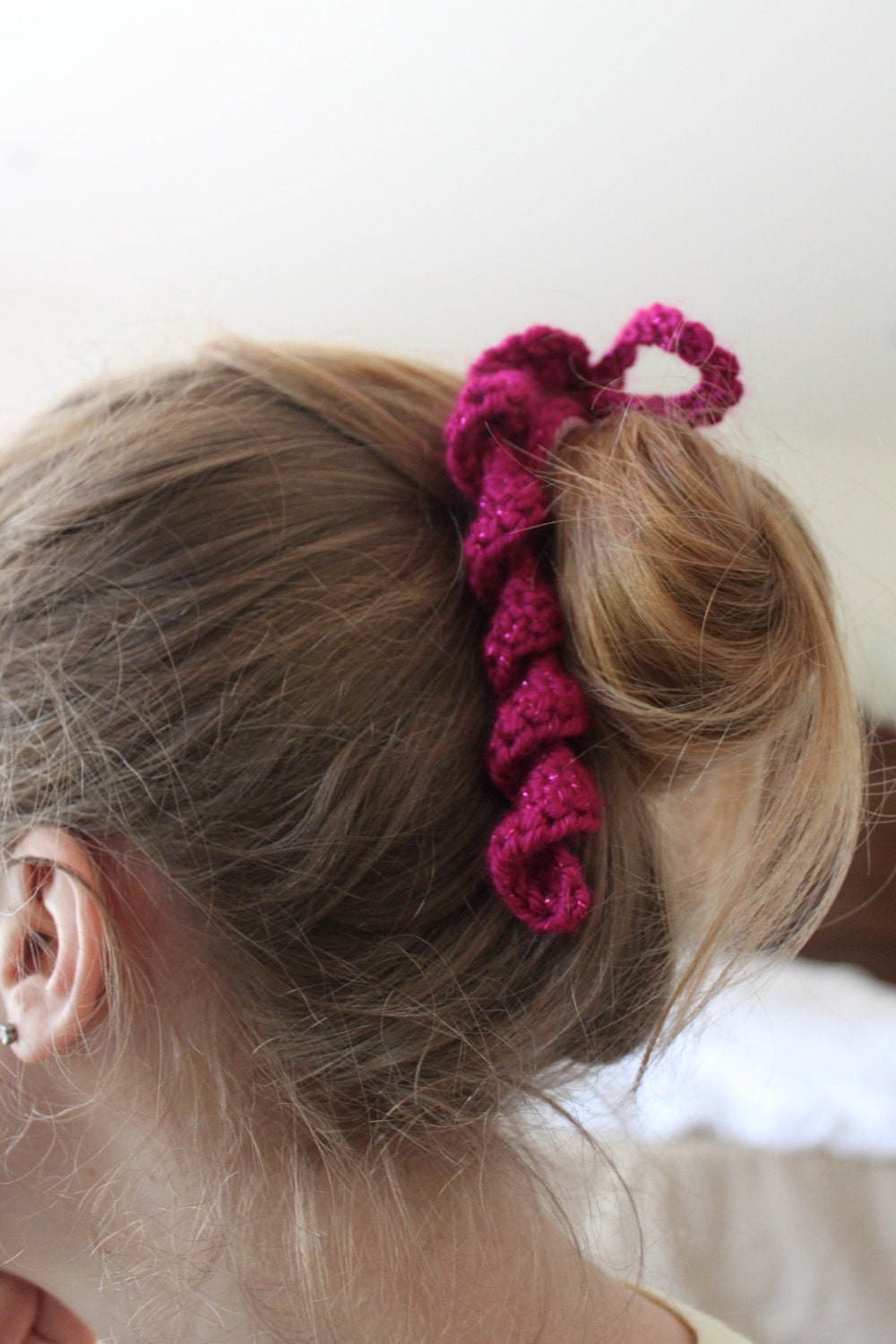Crochet Hair Spirals : Items similar to Crocheted Spiral Hair Tie on Etsy