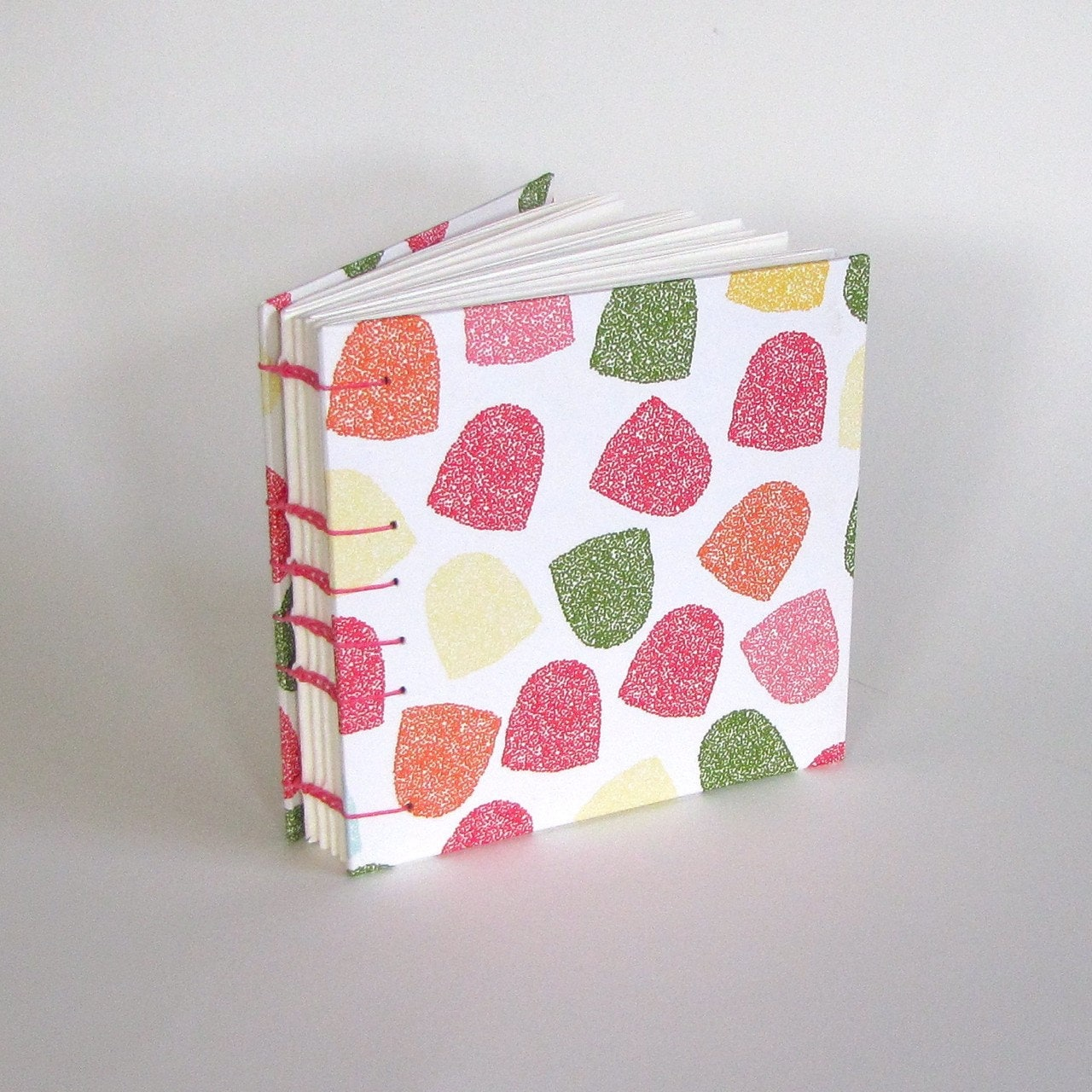 Goodie Gum Drop Journal with Hot Pink Binding- Ready To Ship