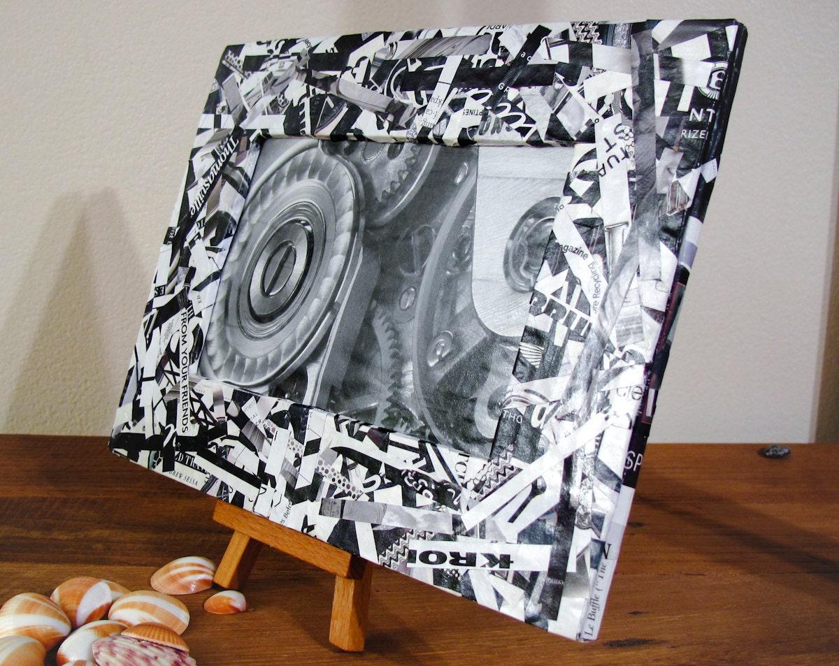 Черно-белый Восстановленный Frame Журнал - рамка для 4 х 6 фото
