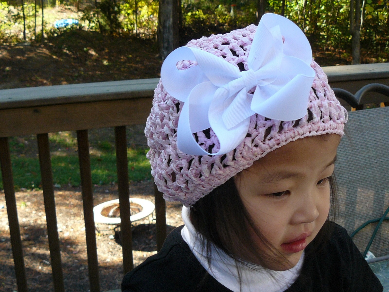 You Pick Crochet Beanie with Boutique Hair Bow