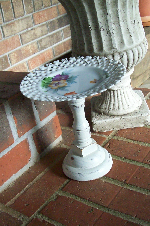 Cupcake Display Stand Vintage Plate Shabby Chic Weddings  Treasury Item