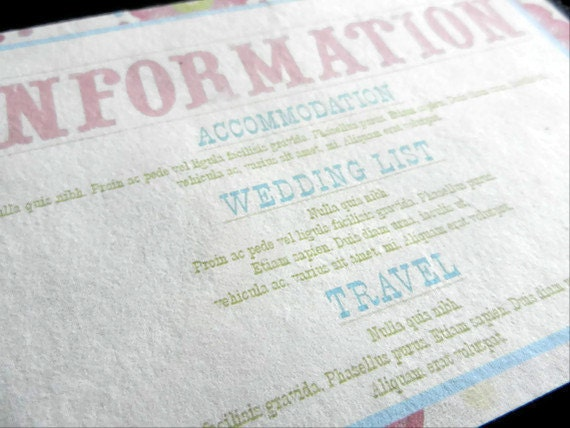 Information Card Inserts For Wedding Invitations 20 By Pulpa