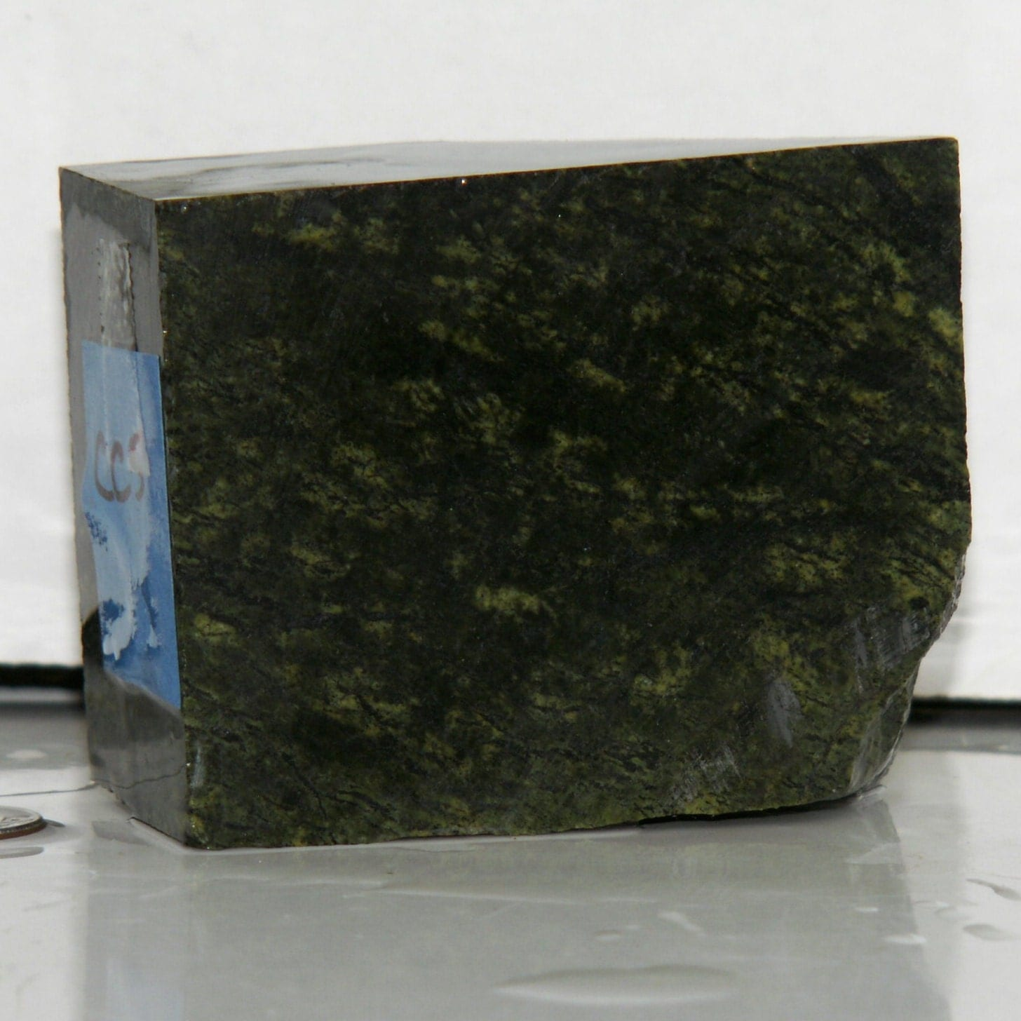 Serpentine Stone Slabs : Green serpentine carving stone slab for fetishes or by