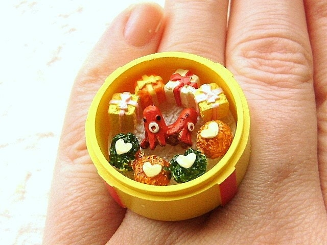 cute bento lunch ring