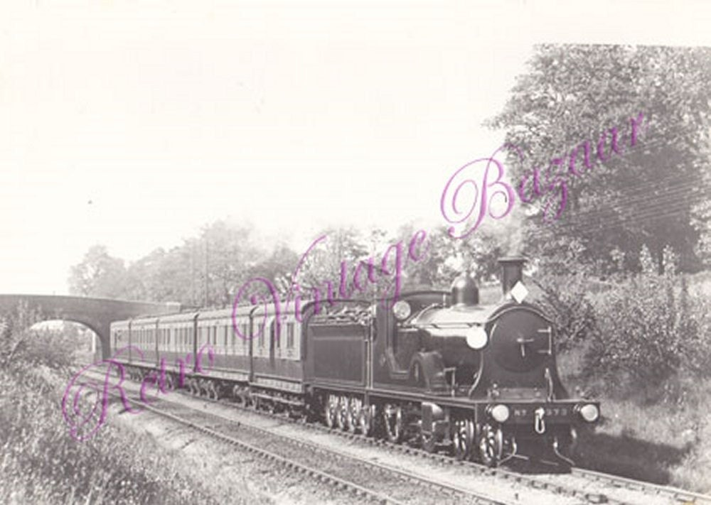 Old Black and White Train Photo No 373 Psg