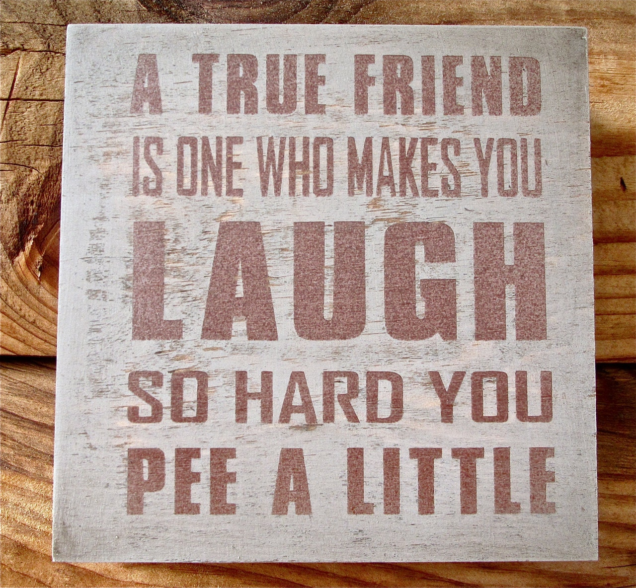 Friendship Quote Signs : Painted wooden box fun funny true friend sign by wordsofwisdomnh