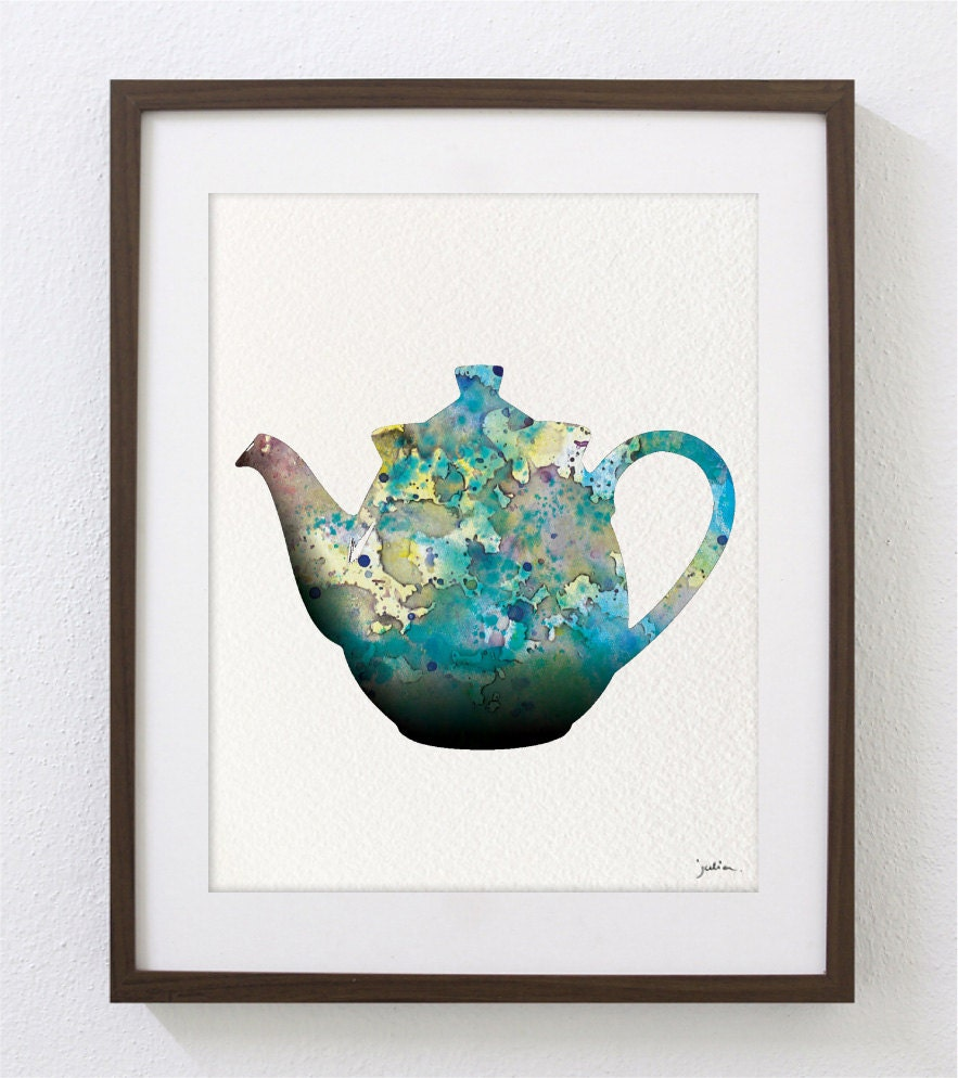 Popular items for blue teapot on Etsy
