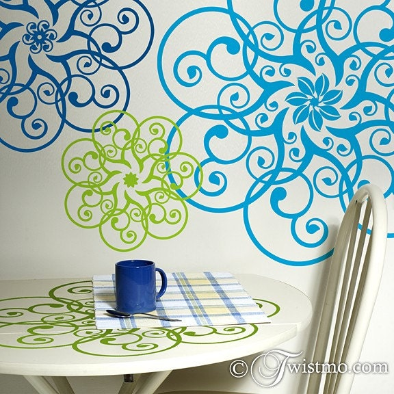 Vinyl Wall Art - 3 Different Circular Doily Designs