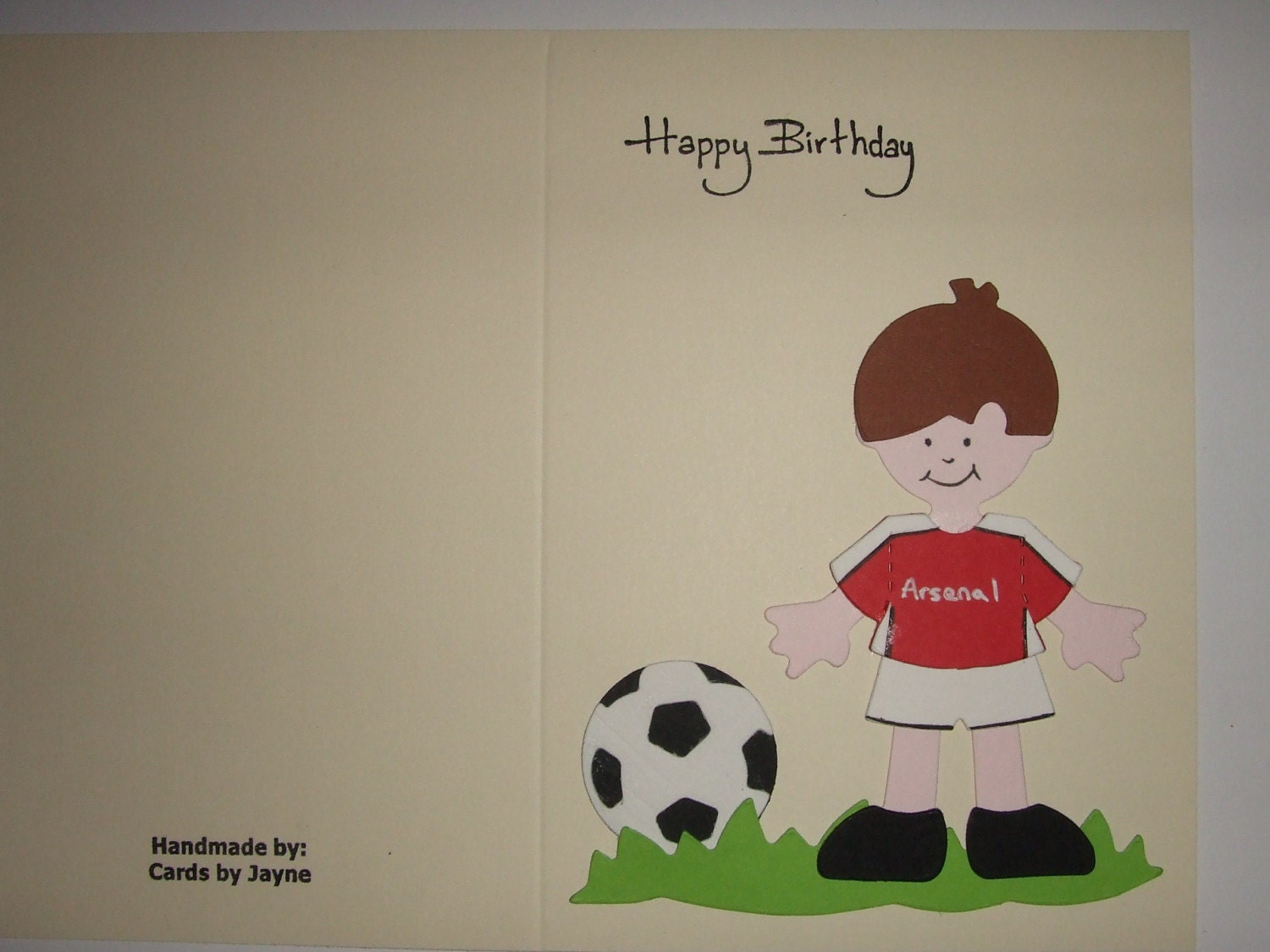 People who have favorited Birthday Card with Footballer in Arsenal ...