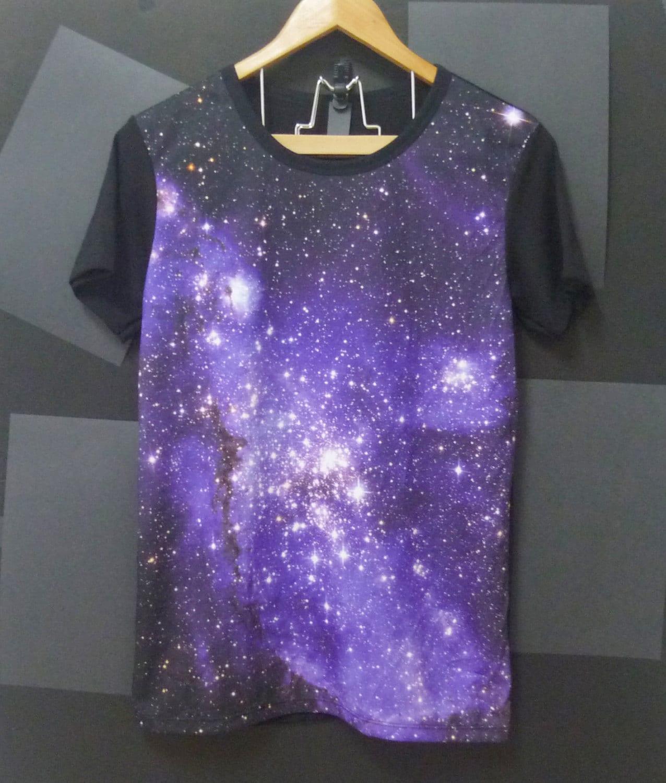 Items similar to purple nebula universe galaxy t shirts for Galaxy white t shirts wholesale