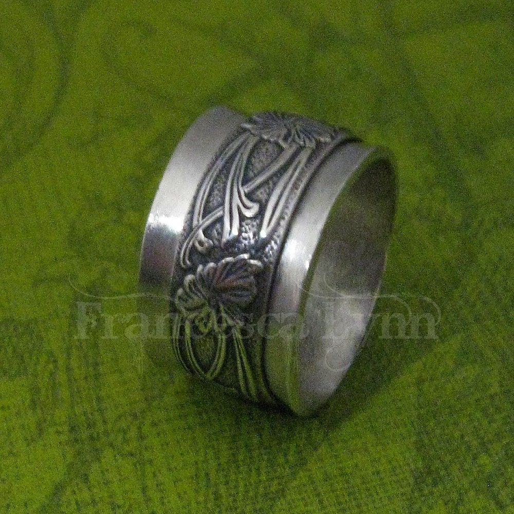 items similar to meditation ring sterling silver with