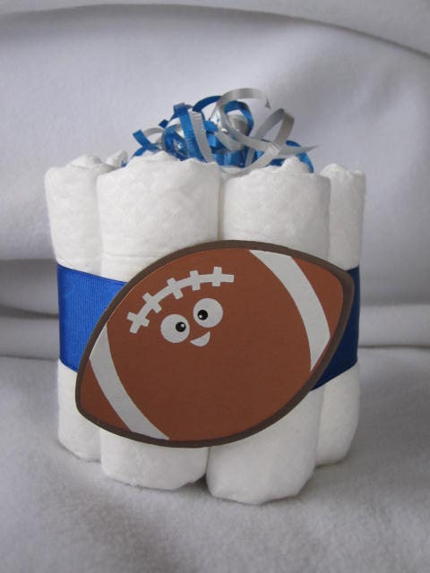 Baby Shower Cakes Detroit ~ Diaper cake mini football detroit lions great by tmlcreates