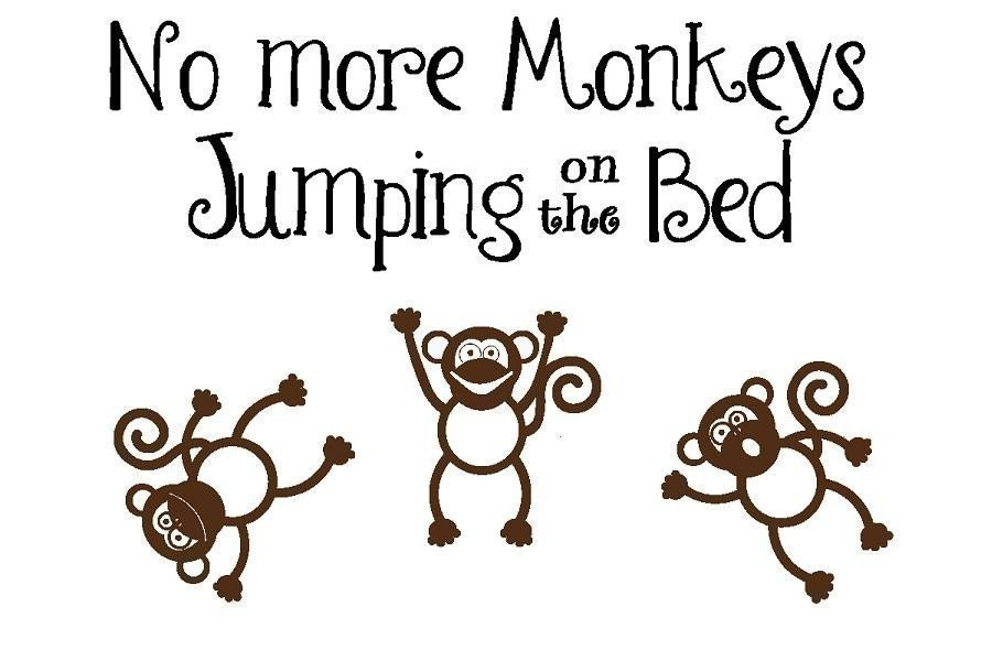 no more monkeys jumping on the bed children by. Black Bedroom Furniture Sets. Home Design Ideas