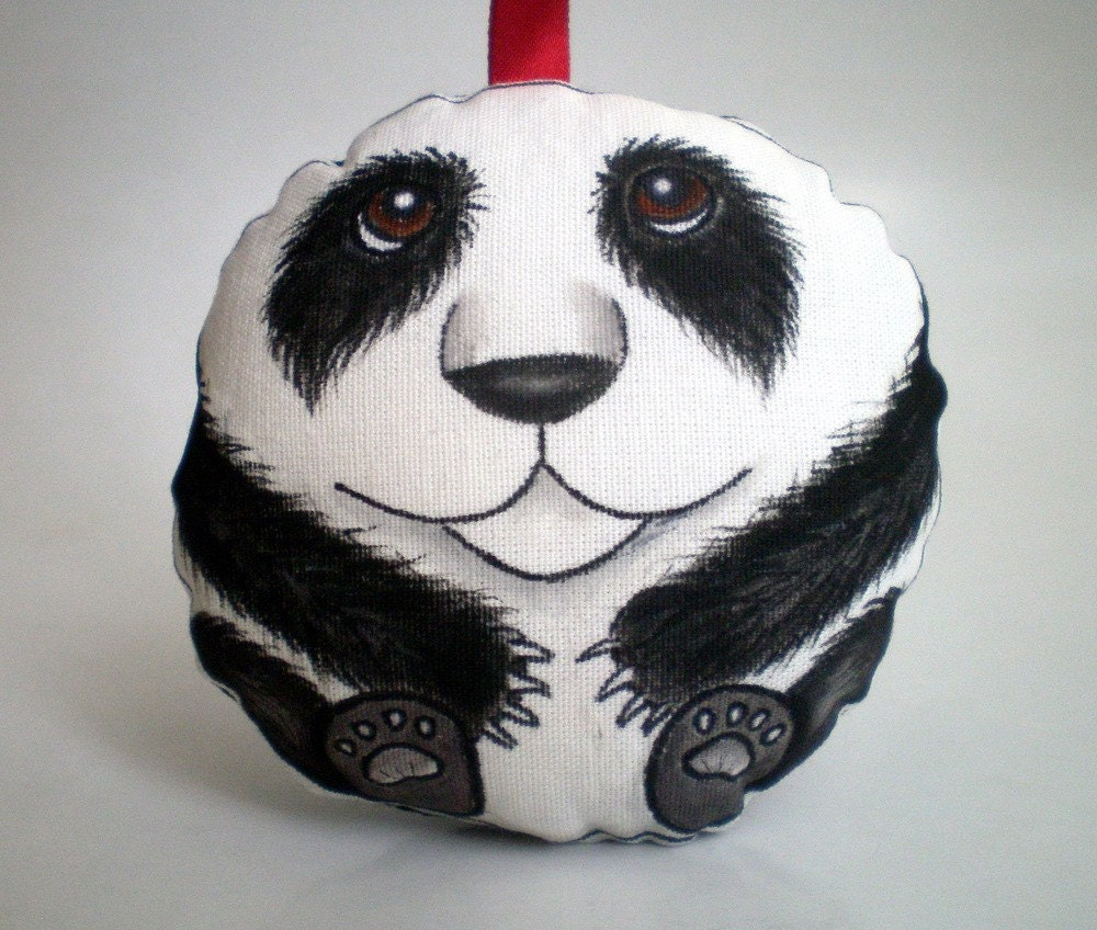 Painted Whimsy Art Doll Panda Ornament, Toy, Decoration