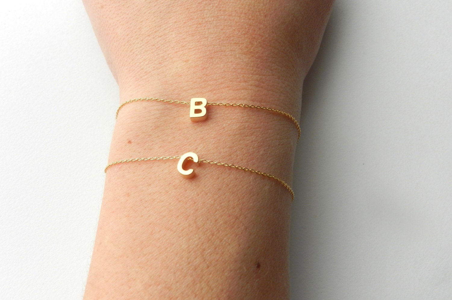 Carrie bracelet on 14k gold filled chain