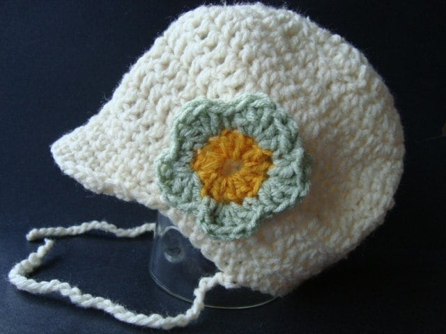 CROCHET PATTERN.number 6... ORGANIC COTTON BABY HAT by ...