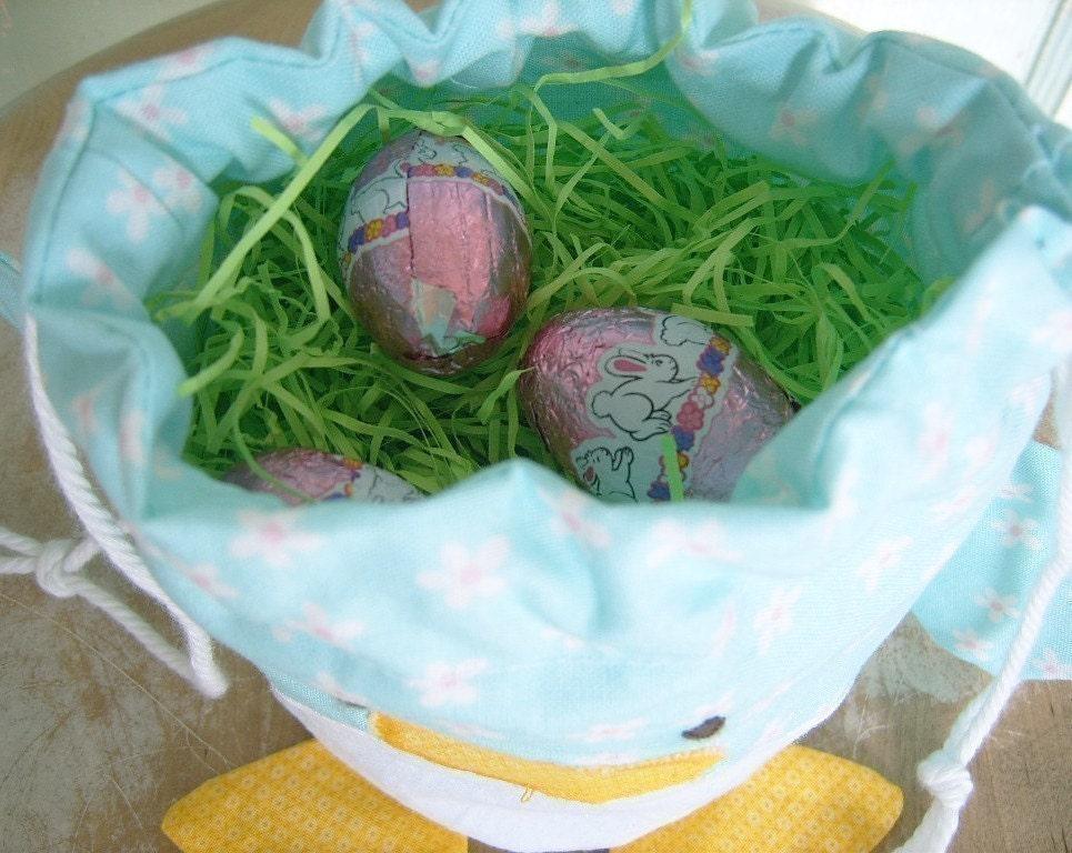 PDF - Easter Chick Drawstring Treat Bag